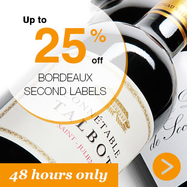 Up to 25% off Bordeaux Second Labels